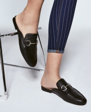 INC International Concepts Inc Women's Gilia Buckle Mules, Created for Macy's Women's Shoes