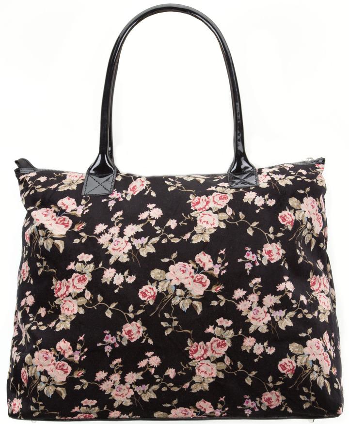 Velvet Floral Tote Bag