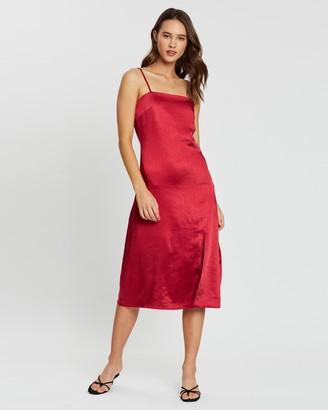 Atmos & Here Diedre Split Front Dress