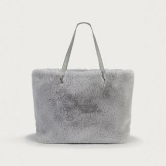 The White Company Faux-Fur Shopper Bag, Grey, One Size