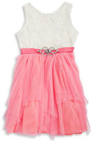 Rare Editions Girls 7-16 Girls Lace and Tulle Dress