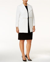 Kasper Plus Size Quilted Open-Front Blazer