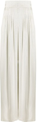 Hebe Studio High-Waisted Striped Skirt
