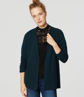 LOFT Wide Ribbed Open Cardigan