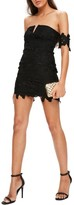 Missguided Women's Lace Bardot Minidress