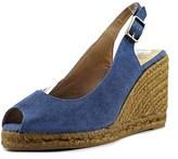Castaner Beli Women Open Toe Canvas Blue Wedge Sandal.