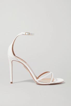 Aquazzura Purist 105 Leather Sandals - White