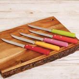 Dibor Set Of Five Multi Coloured Steak Knives