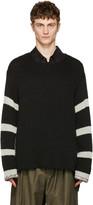 Yohji Yamamoto Black Striped Sweater