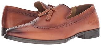 Carlos by Carlos Santana Sanders Tassel Loafer (Cognac Calfskin Leather) Men's Shoes