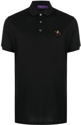 Ralph Lauren Purple Label Logo Embroidered Polo Shirt