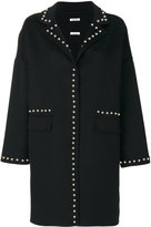 P.A.R.O.S.H. studded coat - women - Wool - XS