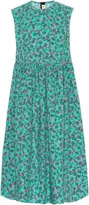 Marni Printed cotton-poplin midi dress