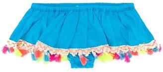 Piccola Ludo tasseled bandeau bikini top