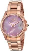 Jivago Women's JV3213P Analog Display Swiss Quartz Rose Gold Watch