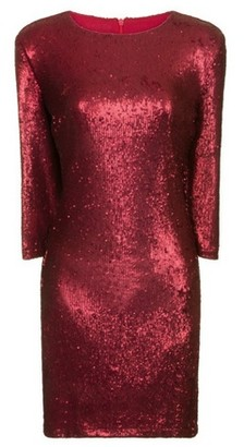 Dorothy Perkins Womens Girls On Film Red Sequin Bodycon Dress, Red