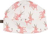 Oeuf Unicorn-Pattern Organic Pima Cotton Beanie-PINK