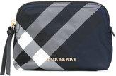 Burberry checked beauty case - women - Polyester/Leather - One Size