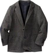 Isaac Mizrahi Plaid Herringbone Wool Blend Blazer (Toddler, Little Boys, & Big Boys)