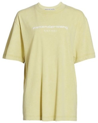 Alexander Wang Acid Wash Embroidered T-Shirt