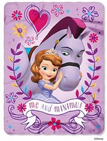 "Sofia the First, Me and Minimum Printed Fleece Throw, 45"" x 60"""