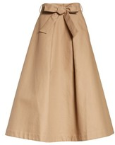 Co Women's Belted Cotton Skirt