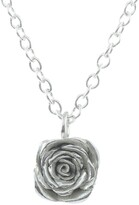 Lucy Flint Jewellery Large Rose Necklace Sterling Silver
