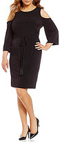 Calvin Klein Plus Cold-Shoulder Jersey Dress