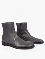 Maison Margiela Grey Brushed Leather Boots