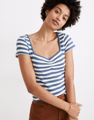 Madewell Ribbed Sweetheart Tee in Stripe