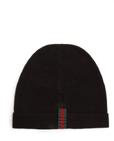 Gucci Web-appliqué Wool Beanie Hat