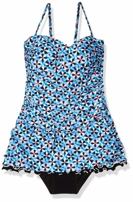 Gottex Women's Ruffle Trim Bandeau Swimdress One Piece Swimsuit