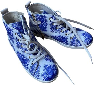 Dolce & Gabbana White Leather Trainers