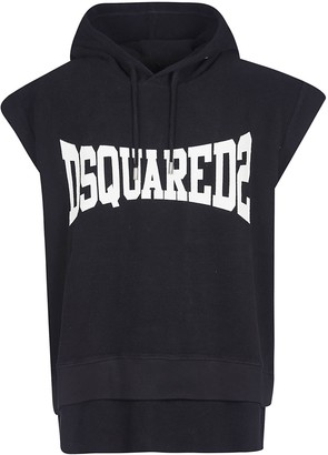 DSQUARED2 Logo Print Sleeveless Hoodie