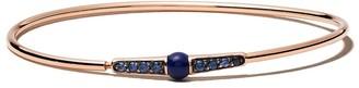 Pomellato 18kt rose gold Mama non mama lapis lazuli and sapphire bangle