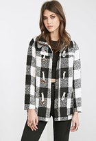 Forever 21 FOREVER 21+ Check Plaid Toggle Coat