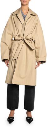 Balenciaga Cotton Short Cocoon Coat