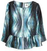 H&M Patterned Satin Blouse - Dark gray/patterned - Kids