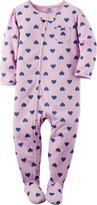 """Carter's Baby Girls' """"Heart of Hearts"""" Footed Pajamas"""