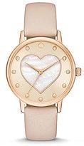 Kate Spade Metro Heart Analog Leather-Strap Watch