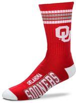 For Bare Feet Men's Oklahoma Sooners Deuce Striped Crew Socks