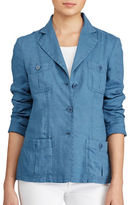 Lauren Ralph Lauren Petite Linen Three-Button Blazer