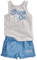 Nickelodeon Nickelodeon's Shimmer and Shine 2-Pc. Graphic Tank Top and Shorts Set, Toddler and Little Girls (2T-6X)