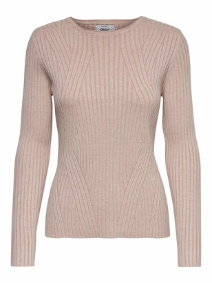 Only Women's Onlnatalia L/s Rib Pullover KNT Noos Jumper
