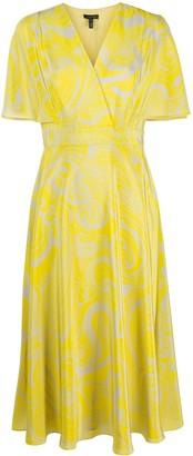 Escada Paisley Print Silk Dress