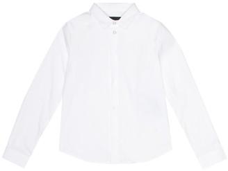 Emporio Armani Kids Stretch cotton-blend shirt