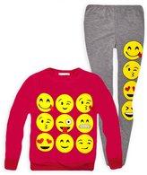 Jollyrascals Girls Emoji Jumper And Matching Leggings