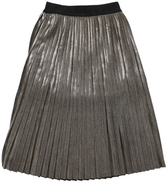 Karl Lagerfeld Paris Pleated Lurex Skirt