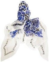 Alexander McQueen Exploding Flowers Print Silk Scarf