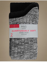 M&S Collection 2 Pair Pack Heavyweight Sumptuously Soft Knee High Socks